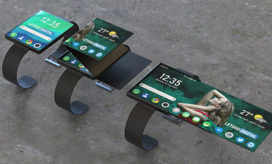Một bản concept cho mẫu đồng hồ mới của Oppo