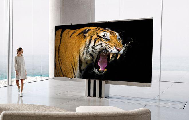 Cận cảnh siêu TV có thể gập nhiều lần như một chiếc quạt xếp khổng lồ - Ảnh 1.