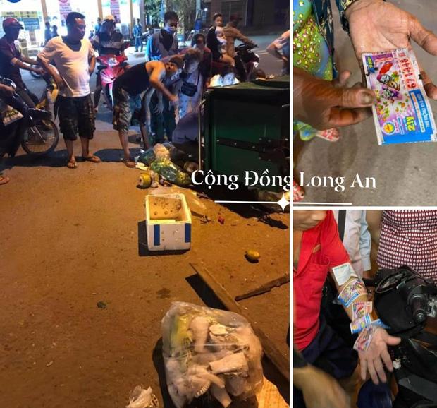 Long An: Vứt nhầm 12 tờ vé số trị giá 180 triệu đồng, cả xóm lục tung thùng rác tìm giữa đêm khuya - Ảnh 1.