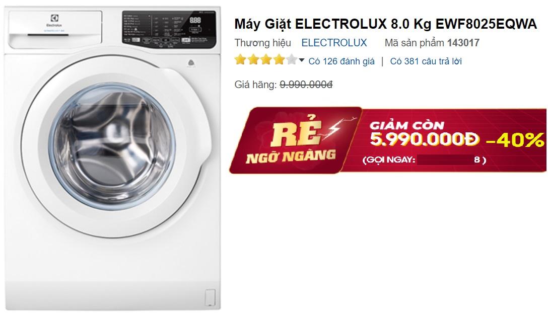 Máy giặt lồng ngang giảm giá không phanh đầu hè, có mẫu chỉ 5,3 triệu đồng - Ảnh 2.