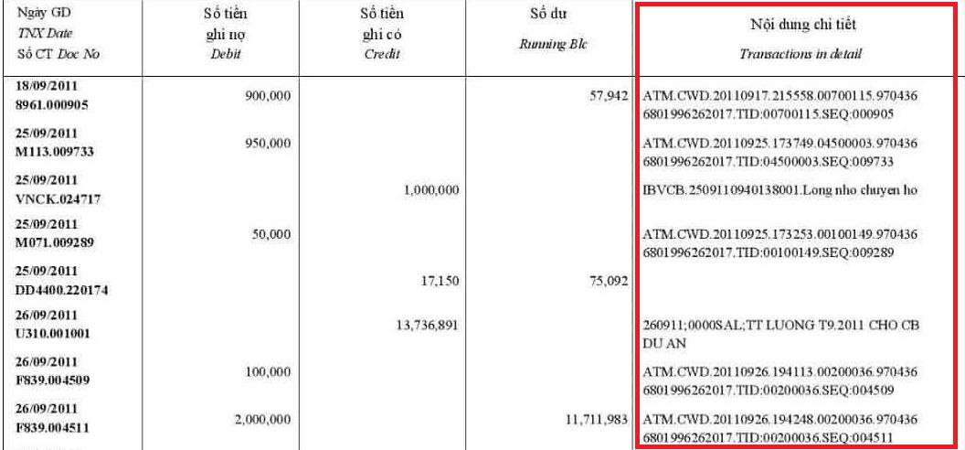 Thắc mắc cột sao kê tài khoản ngân hàng khó hiểu thế, đây chính là giải thích chi tiết cho bạn - Ảnh 6.