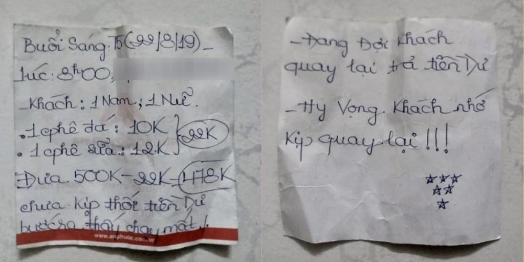 Tá hỏa vì quên lấy gần 500.000 đồng tiền thừa, chàng shipper ngỡ ngàng khi đọc được mảnh giấy chủ quán để lại - Ảnh 3.