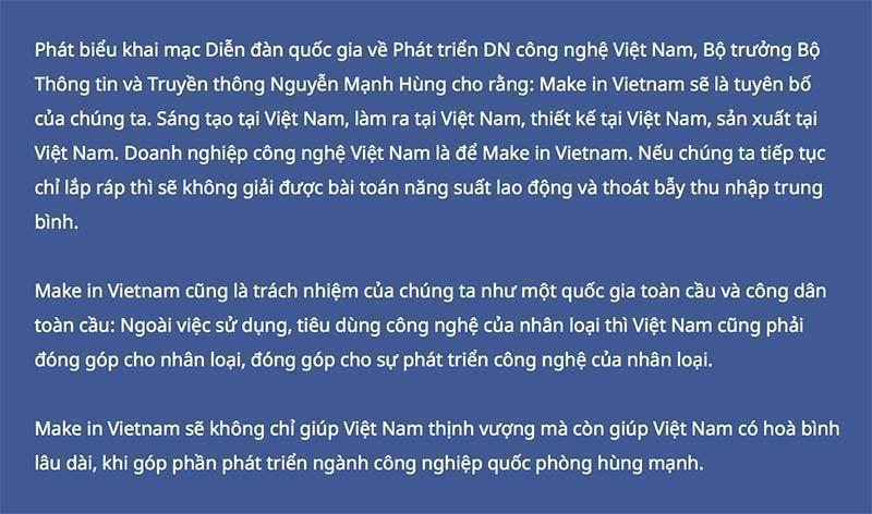 Make in Vietnam: Gia công chỉ kiếm sống, giàu có phải làm chủ công nghệ-3