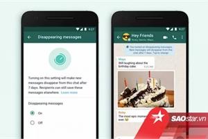 WhatsApp có thêm tính năng tin nhắn tự hủy nhưng không nhanh như bạn nghĩ