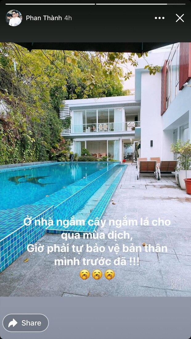 Hình ảnh về căn biệt thự được Phan Thành đăng trên Story Instagram của mình