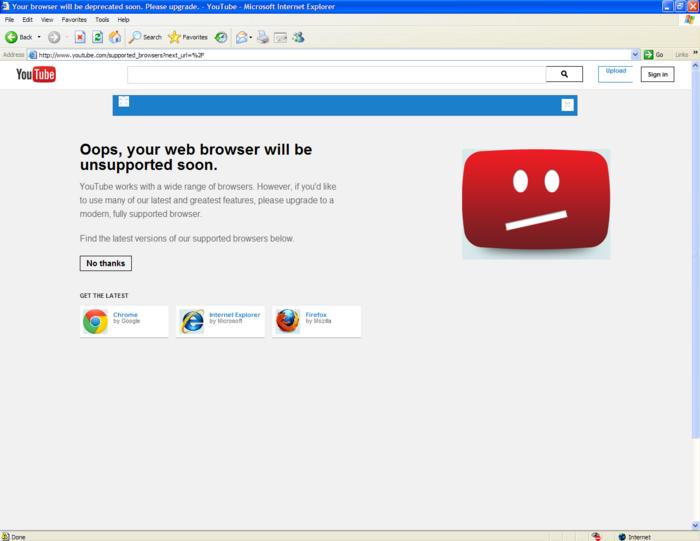 YouTube đã dùng 'mưu hèn, kế bẩn' giết chết trình duyệt Internet Explorer như thế nào? Ảnh 1