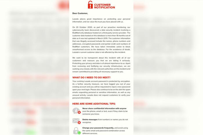 Thông tin cá nhân của 1,1 triệu người dùng Lazada rò rỉ ở Singapore Ảnh 3