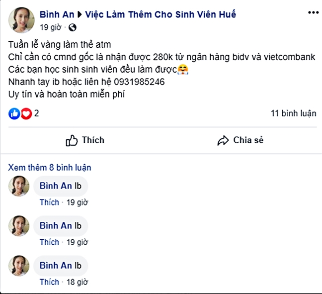 Ham 'mo the ATM duoc tang tien', coi chung tro thanh toi pham