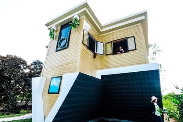Hé lộ hình ảnh bên trong căn nhà lộn ngược đặc biệt ở Việt Nam