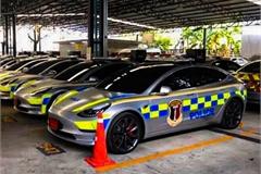 Dàn xe điện Tesla giá gần 70 tỷ đồng của cảnh sát Thái Lan gây sốt
