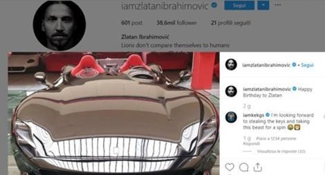 Tiền đạo Zlatan Ibrahimovic tự thưởng siêu xe 40 tỉ đồng dịp sinh nhật