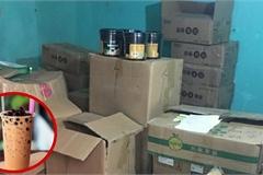 Bắt giữ số lượng lớn nguyên liệu trà sữa nhập lậu tại Hà Nội