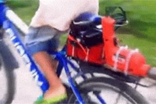 """Xe đạp """"độ"""" phóng nhanh như xe điện"""