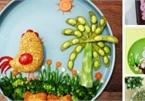 Mẹ trang trí bữa ăn hấp dẫn trị 'bệnh' lười ăn rau của con