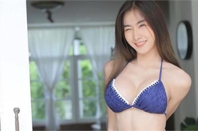 Dân Thái phát cuồng với vòng 2 phẳng lì, chắc như đá của cô gái xinh đẹp này