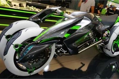 Ngắm siêu mô tô điện 3 bánh Kawasaki như đến từ tương lai