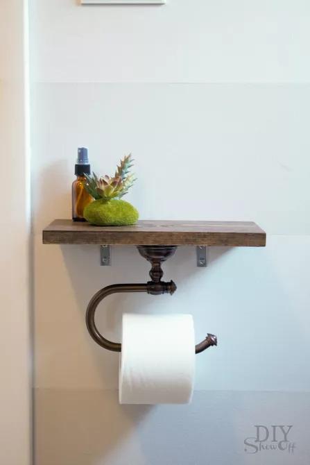 10 ý tưởng thiết kế kệ trong phòng tắm nhỏ ai cũng thích mê