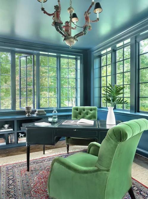 7 ý tưởng thiết kế căn phòng tông ngọc lam đẹp mà cực mát mắt tín đồ yêu màu xanh không thể bỏ qua