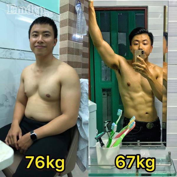 Thực đơn giảm cân vừa đẹp lại chất của chàng trai có body siêu cuốn hút, khiến hội chị em trầm trồ xin công thức