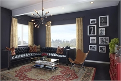 5 ý tưởng thiết kế phòng khách với tông xanh dương tuyệt đẹp