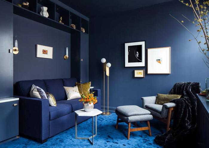 5 ý tưởng thiết kế phòng khách với tông xanh dương tuyệt đẹp khiến bạn không thể không yêu