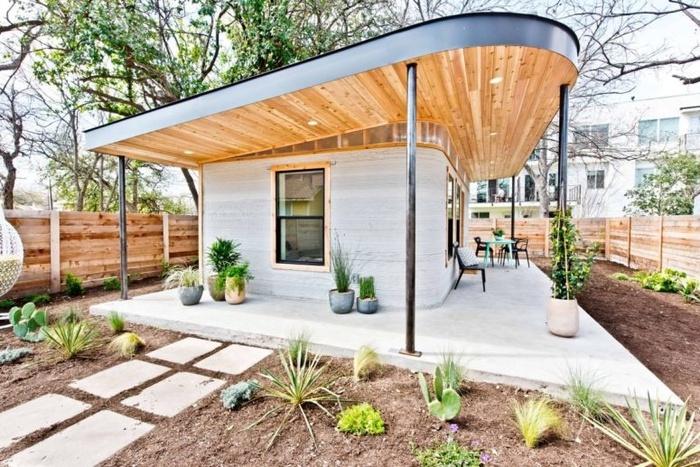 Ngôi nhà mái bằng 3D nhỏ xinh, nhìn góc nào cũng đẹp được hoàn thiện trong vòng 24h khiến nhiều người sửng sốt
