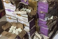 Thu giữ hơn 10.000 chai sữa chua gắn mác chữ Trung Quốc