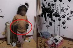 """Kiếm được hộp mực, bé gái tạo nên """"tác phẩm"""" khiến phụ huynh hốt hoảng"""