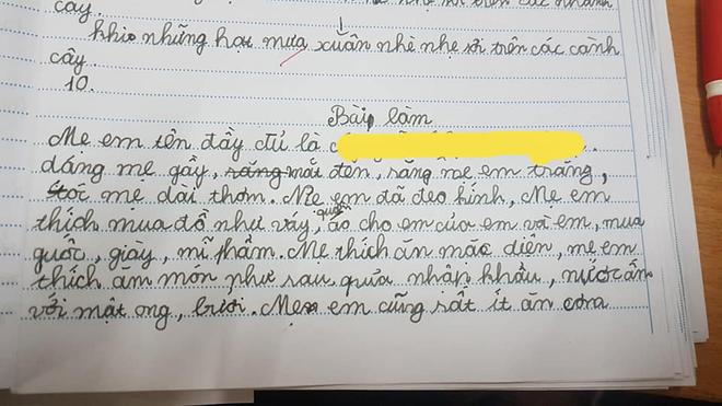 """Học sinh tả """"mẹ thích ăn diện"""", tưởng bóc phốt nhưng đọc câu cuối ai cũng khen nức nở: Giỏi nịnh đến thế là cùng! - Ảnh 1."""