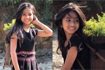 Cô bé dân tộc bất ngờ nổi tiếng trên MXH nhờ sở hữu vẻ đẹp trong trẻo tựa thiên thần
