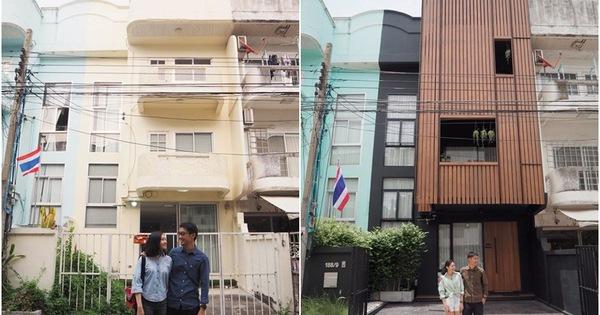 Cặp vợ chồng trẻ tạo bất ngờ khi sửa nhà phố xập xệ tối tăm thành không gian hiện đại, tiện nghi
