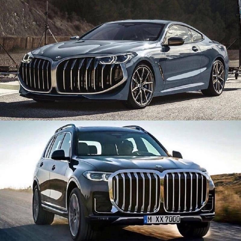 Một bức ảnh chế diễu thiết kế lưới tản nhiệt mới của BMW trên mạng Internet