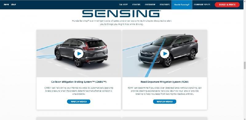 Hệ thống an toàn chủ động của Honda CR-V tại thị trường Mỹ