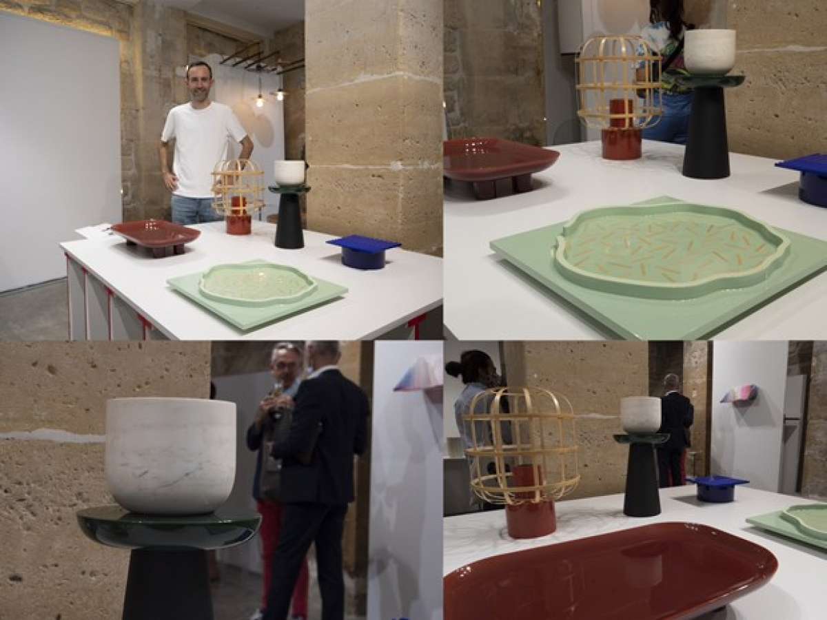 Vietnam's lacquer products have been introduced at Paris Design Week (Photo: VNA)