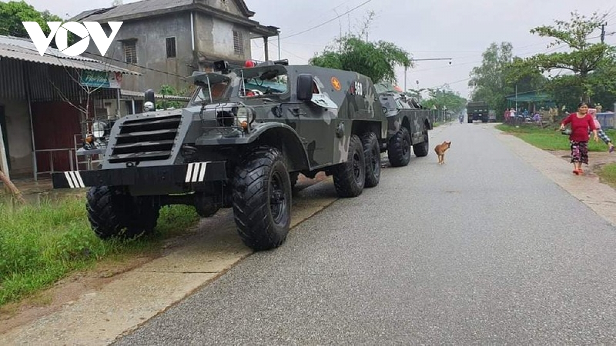 Specialised-military vehicles are ready to be used in rescue efforts