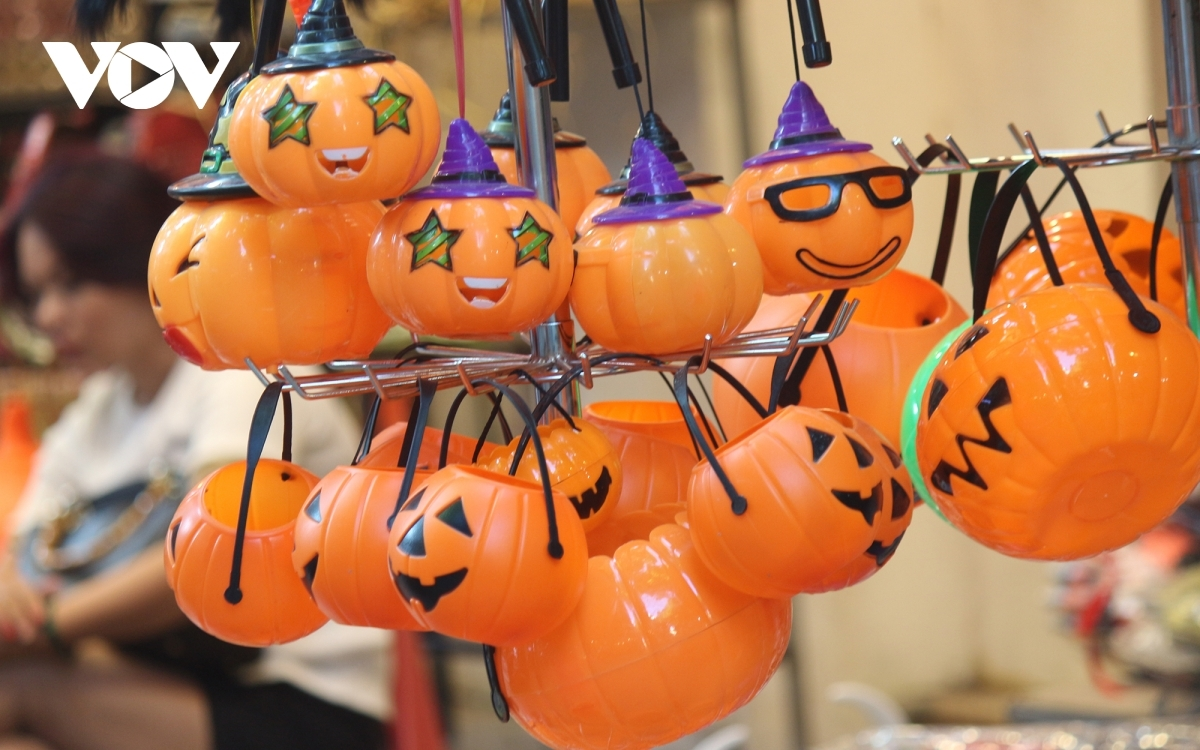 Each year pumpkin-shaped lanterns prove to be the most popular item on sale.
