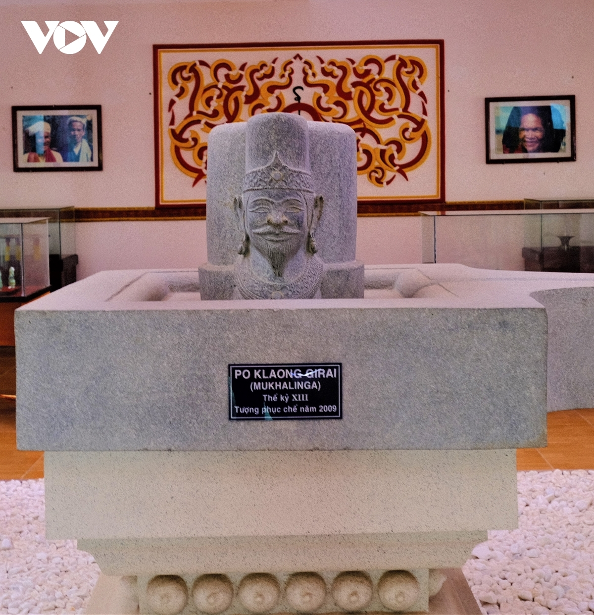 A statue featuring King Po Klaong Girai can be viewed at a museum showcasing Champa culture.