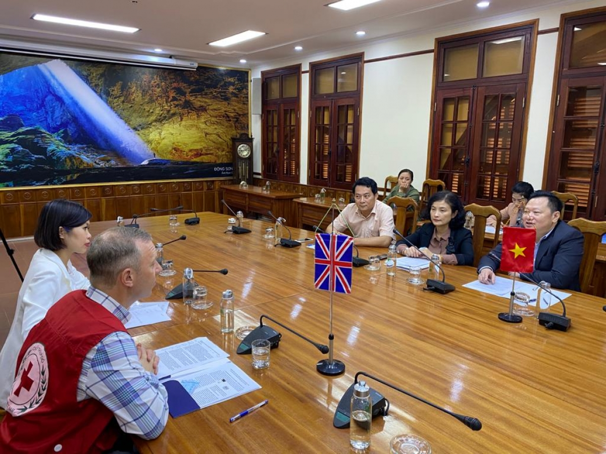 """""""The UK has been working closely with Vietnam to support provinces, including Quang Binh, in flood response and in increasing long-term climate resilience"""", the British diplomat adds."""