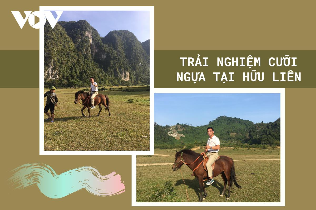 Riding horses on Dong Lam meadow proves to be an unmissable experience for travelers to Huu Lien commune.