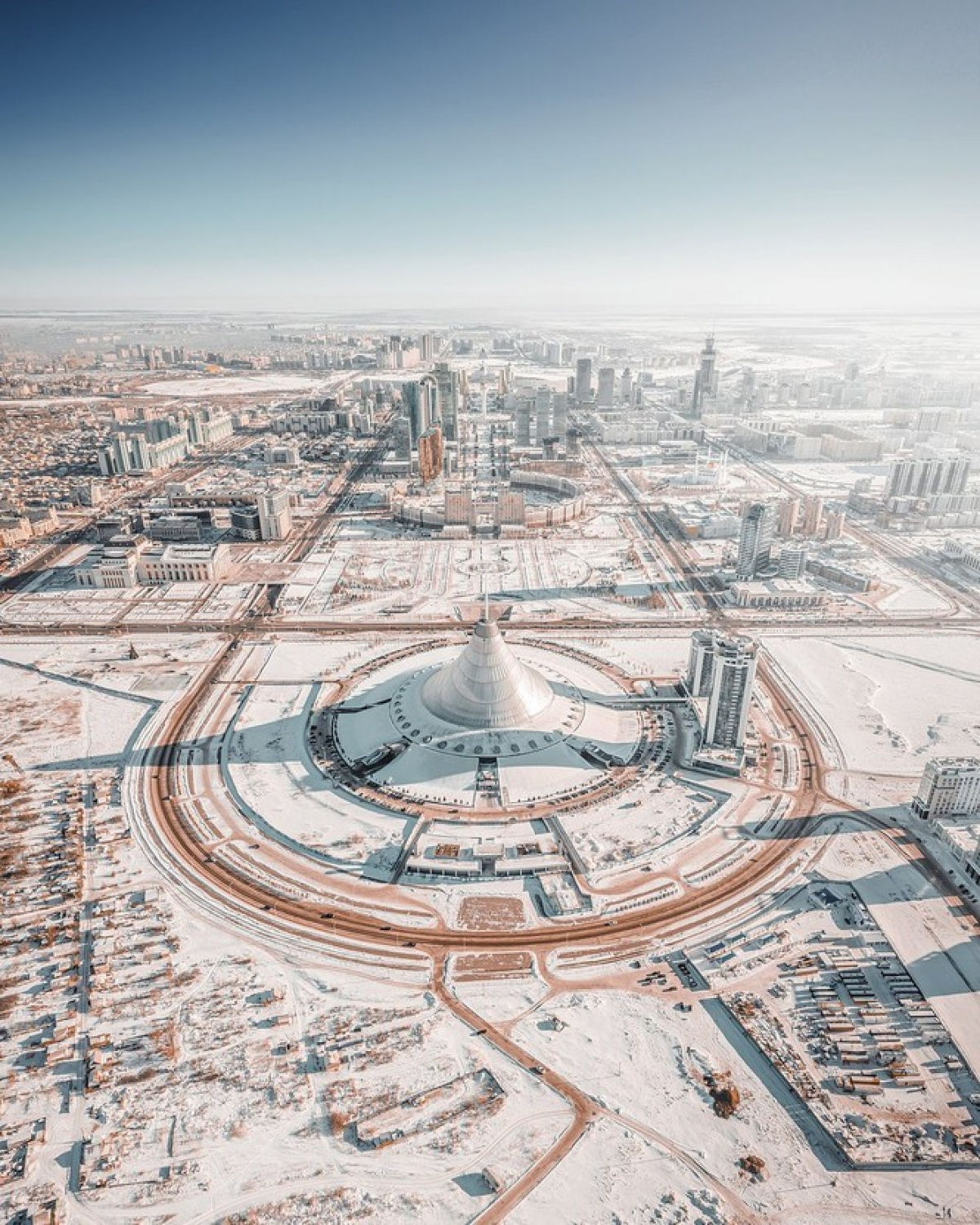 'Winter in the city of Nur-Sultan' by @andrei_pugach of Russia