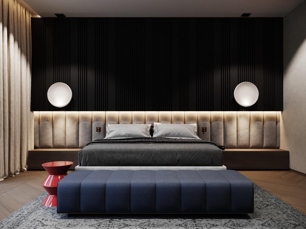 Việc sáng tạo trong trang trí, sắp xếp nội thất mang lại sự hấp dẫn cho không gian ngủ.