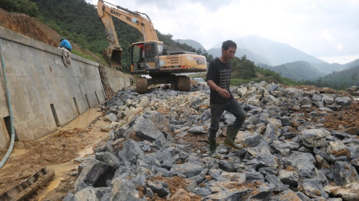 Roads have been left damaged due to several storms passing through the central region over the past month, with many areas being left isolated.