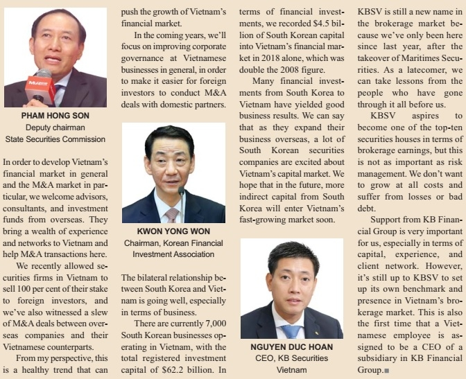south korean securities immersed in ma deals