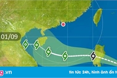 Bão Podul mạnh cấp 8 áp sát Biển Đông