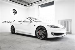 Tesla Model S được độ thành xe mui trần
