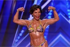 Cụ bà 73 tuổi trình diễn hình thể ở game show truyền hình