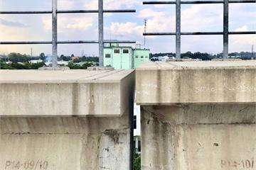 Metro số 1 bị lệch đầu dầm, có nguy cơ mất an toàn