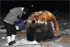 Mẫu vật từ Mặt Trăng đáp xuống cánh đồng tuyết Nội Mông