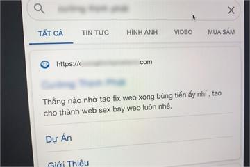 Website bị nhắc nợ trên Google