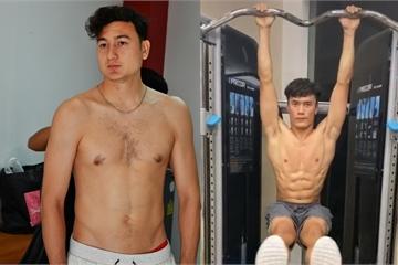 Văn Lâm mất body 6 múi, Tiến Dũng, Văn Hậu được khen cơ bắp sau dịch